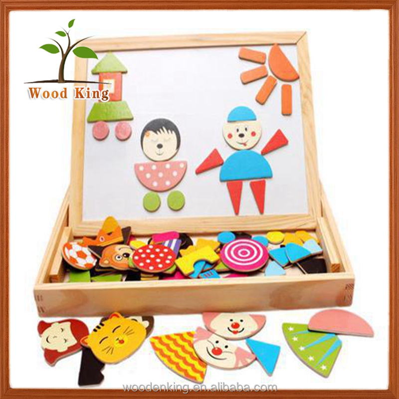 New Products On China Market Mental Magnetism Board Of Blackboard Drawing Board 3d Wood Puzzle Toy
