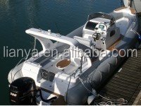 Liya 27ft rib hypalon inflatable boat cabin boat with motor