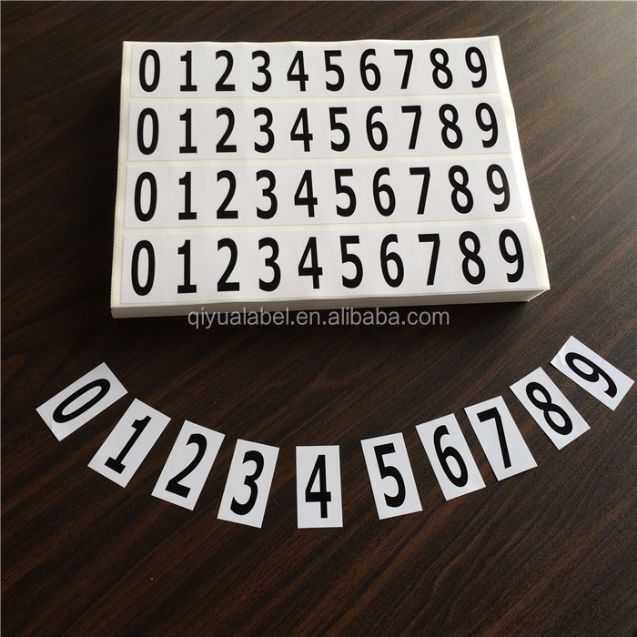 custom white numbering sticker,sheet number a4 label