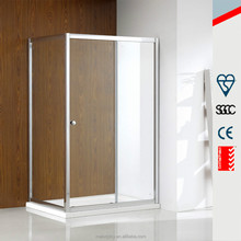 6mm full frame custom made square sliding tempered glass shower enclosure MD-SS008
