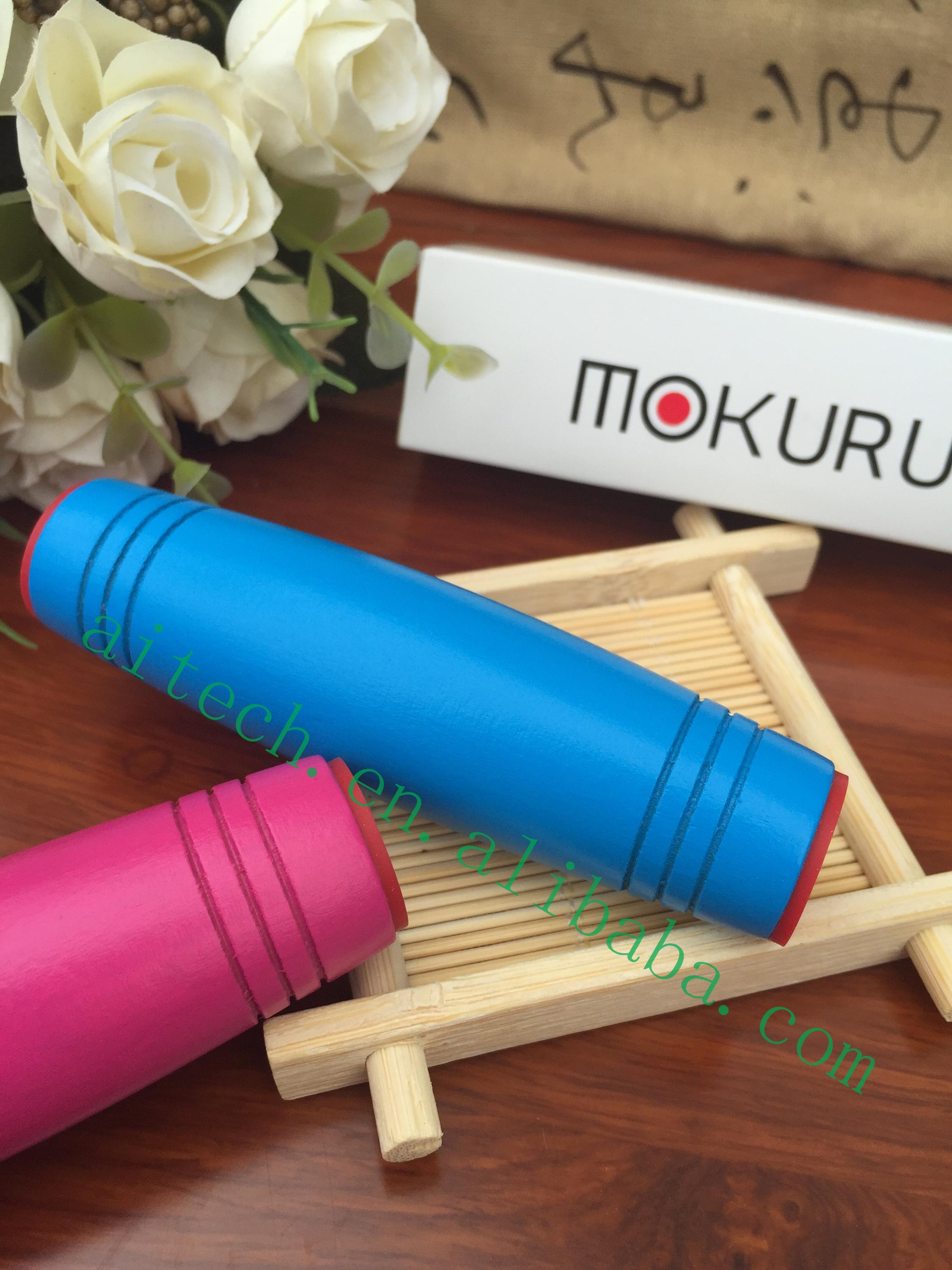 2017 New Arravial Rollver Fidget Stick Mokuru Wooden Fidget Toy Desk Toys Sticker