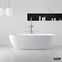 modern free standing solid surface whirlpool bathtub