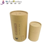 Wholesale Small Gift Cardboard Paper Tube Packaging with Round Hat for Food