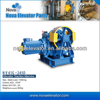 Lift Motor Traction Machine, AC2 VVVF Elevator Geared Tractor NV41G-245D