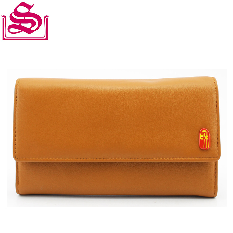 Competitive Price Modern 3 Fold Slim Leather Oem Woman Wallet Purse