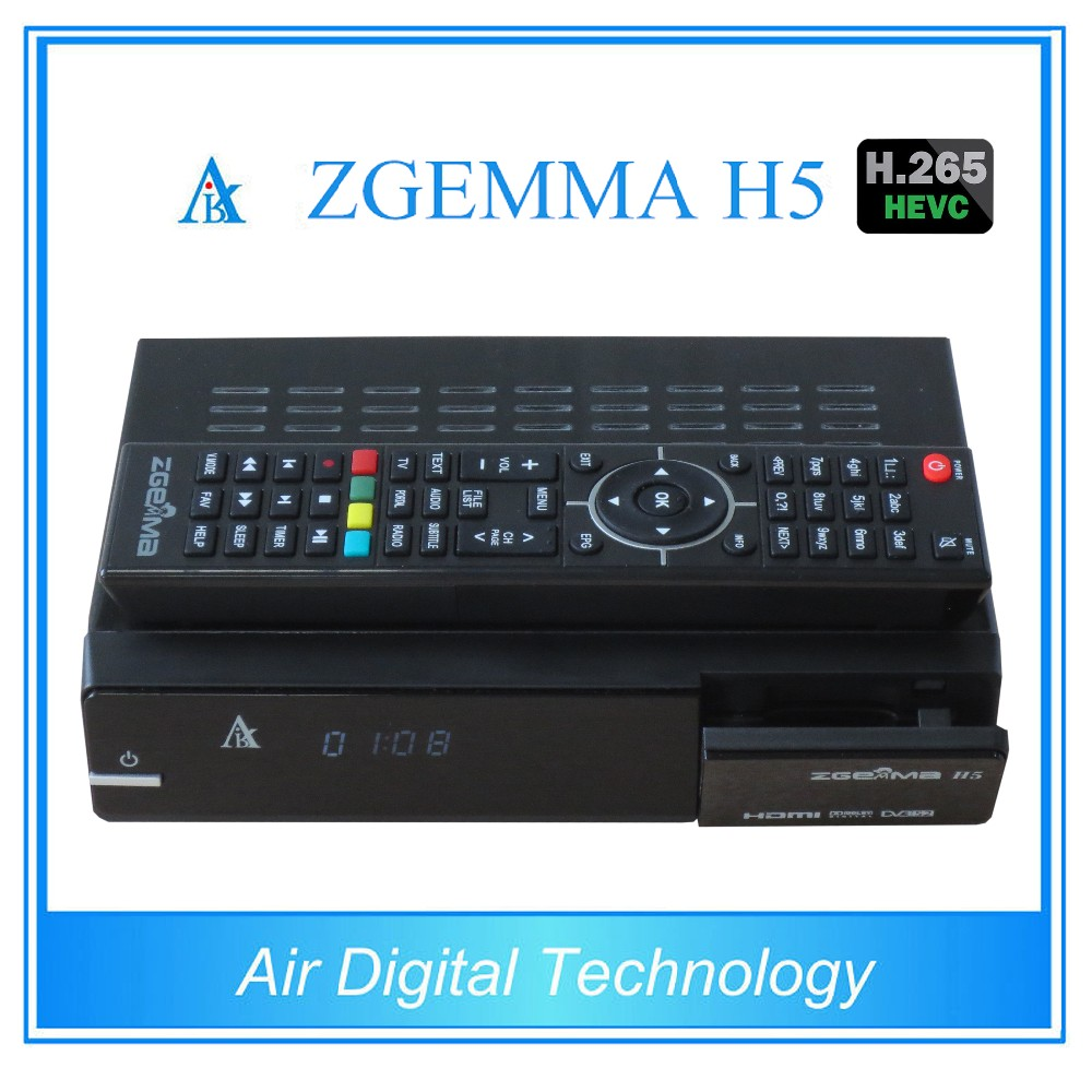 HEVC H.265 Full HD Satellite Receiver with dual core ZGEMMA H5 dvb s2 dvb t2 combo satellite receiver