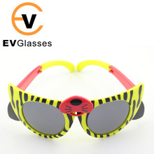 Wenzhou wholesale factory price children's yellow stripes cute d folding party TPE soft material sunglasses