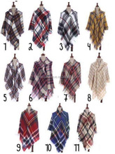 winter oversized shawl blanket tartan plaid pashmina scarf