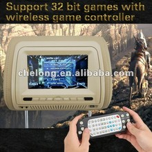 JK Hot Sell car headrest monitor FM Transmitter touch screen headrest car dvd with zipper cover