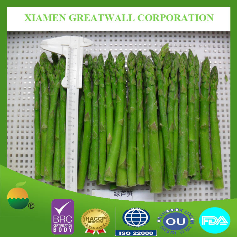2016 spring crop IQF frozen green asparagus spears with best price