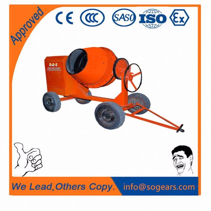 4 wheels barrow separated drums Gasoline concrete mixer