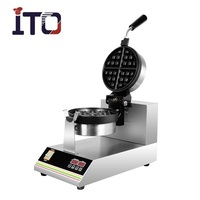 SH-WB1S Hot Sale 220V Commercial Automatic Digital Electric Custom Plate Waffle Maker for Sale