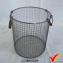 shabby round recycled wire handmade newspaper basket