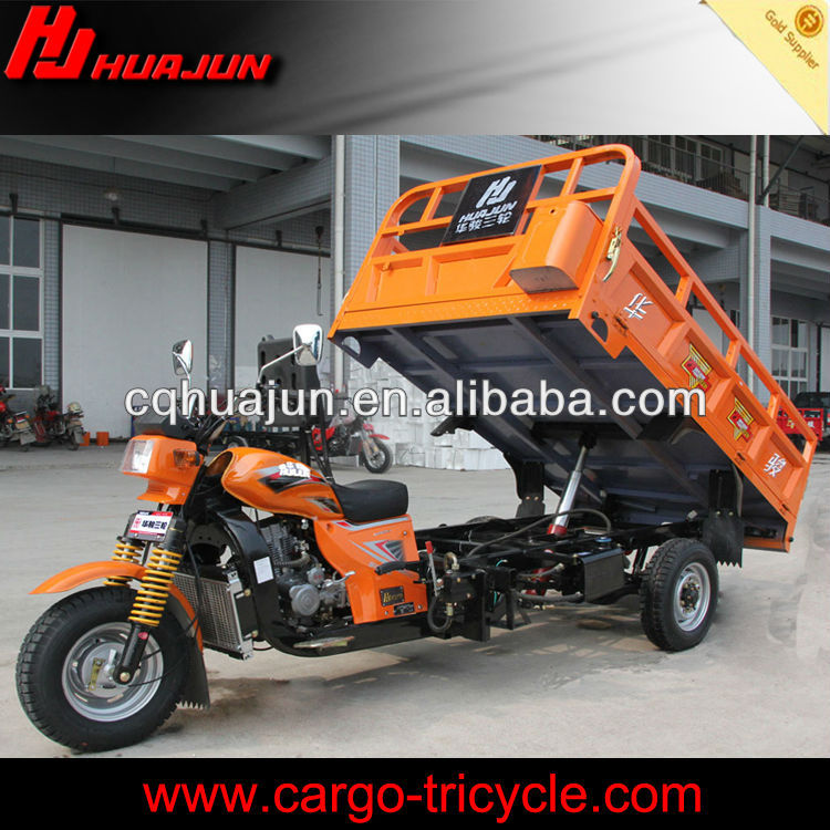 hydraulic lifter moto carguero de china/ triciclo com motor/cargo tricycle with cabin
