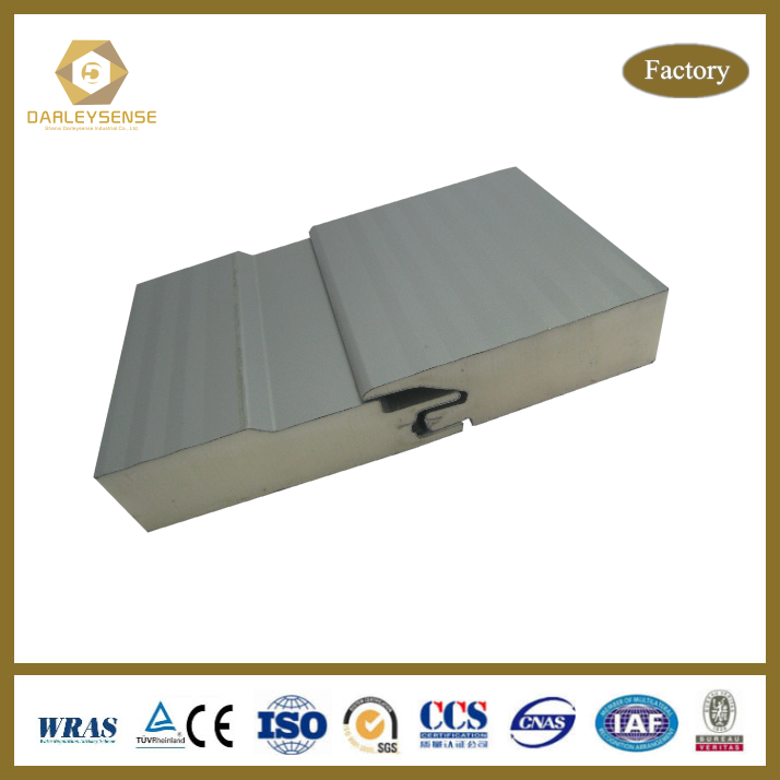 High Quality of Polyurethane Sandwich Panel for Fast and Convenient Construction of House or Factory or Workshop