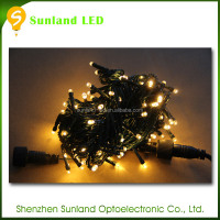Christmas lighting plug/battery operated decorative indoor firefly string lights christmas tree light necklace adapter
