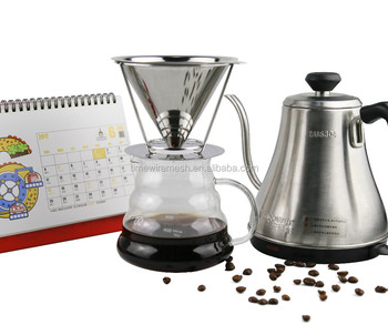 FDA approval clog prevent camping coffee maker with strong base for Christmas gift