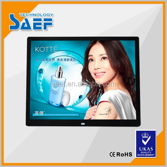 best price advertisement display TFT LCD Digital Photo Frame 15 Inch Video Player