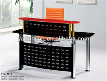 metal panel and tempered glass reception desk/office table