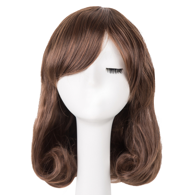 Cheap curl inwards wig in daily life