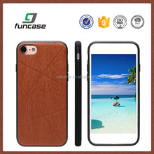 Custom embossed logo wood pattern pu leather 4.7 inch phone case for iphone 7