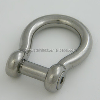 Stainless steel slotted pin bow shackles