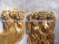 Skin weft with micro ring on Ez weft micro beads weft hair extensions