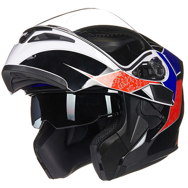 DOT approved Modular dual lens motorcycle flip up Helmet