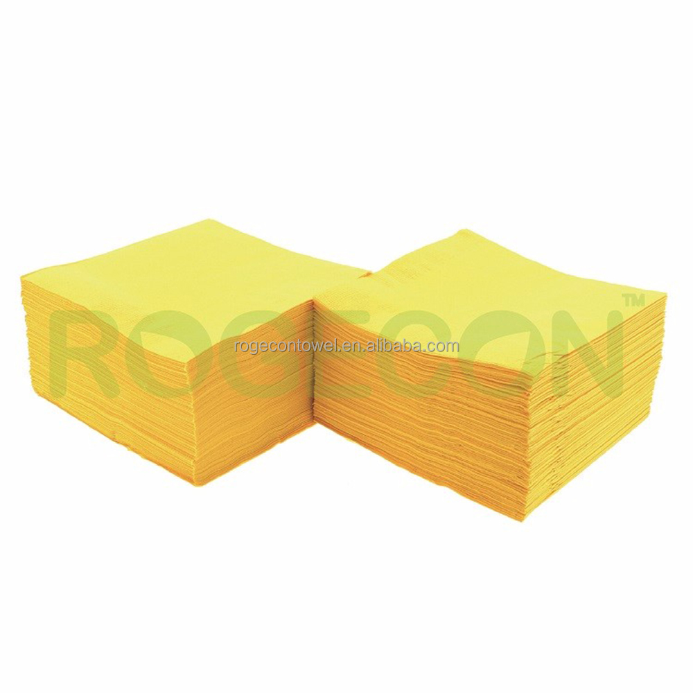 Promotion 100% Organic Virgin Wood Pulp flower flexo yellow printing personalized print paper napkins