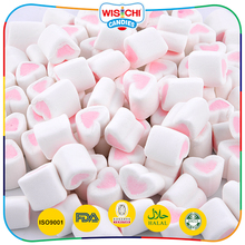 Wholesale heart shaped soft fruity flavour marshmallow for bulk
