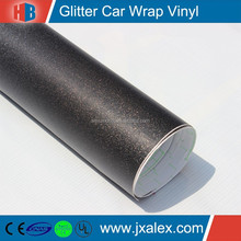 GLF0102/150micron/140gsm,Removable, Black Self Adhesive Vinyl Glitter Rolls For Body Wrap/Decoration