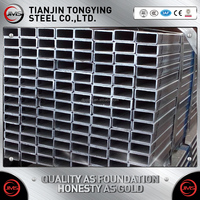 Hot Dipped Galvanized Welded Rectangular Steel Tube