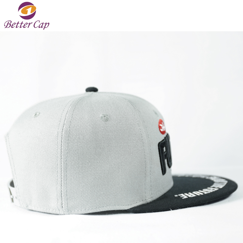 high standard custom 3D embroidery logo snapback hats