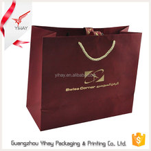 2016 Wholesale high quality cheap price colorful fashion paper bag packaging with logo print