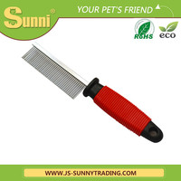Salable new design stainless steel pet slicker brush for cut animals