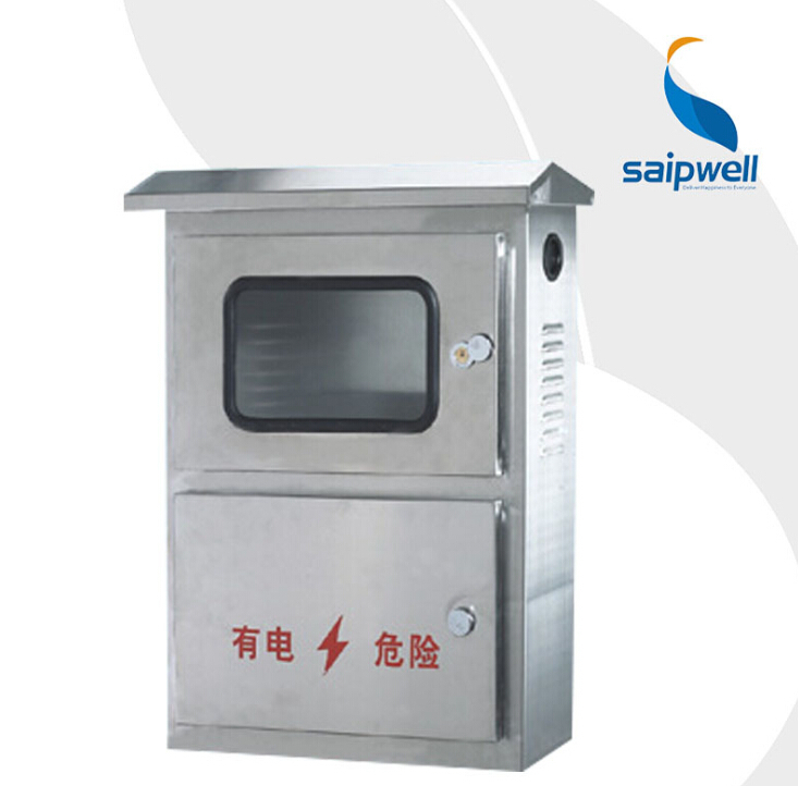 SAIP/SAIPWELL High Quality Stainless Stell One Position Transparent Cover Outdoor Electric Meter Box