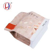 Eco-friendly Peanut Packaging Material Flat Bottom Kraft Paper Bags For Food