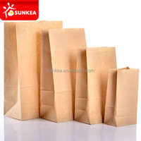 Take away brown kraft paper bags supermarket for food