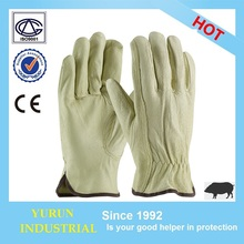2017 Pig grain Wrok driver safety working leather driving glove