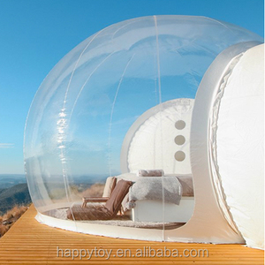 HI CE hot sale clear bubble hotel room transparent inflatable bubble tent for outdoor camping rent