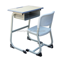 Fixed C Shape Single School Desk and Chair School Furniture kids table and chair set