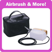 Portable <strong>Airbrush</strong> Makeup Set , Body Paint, Facial Makeup with Noble Leather Cosmetic Bag CE, GS, UL certificated!