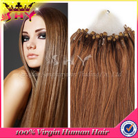 Grade 5A cheap 100% virgin remy brazilian kinky curly micro loop hair extension