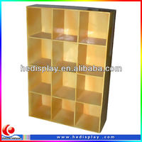 Stores recycle corrguated cardboard paper carton display stand