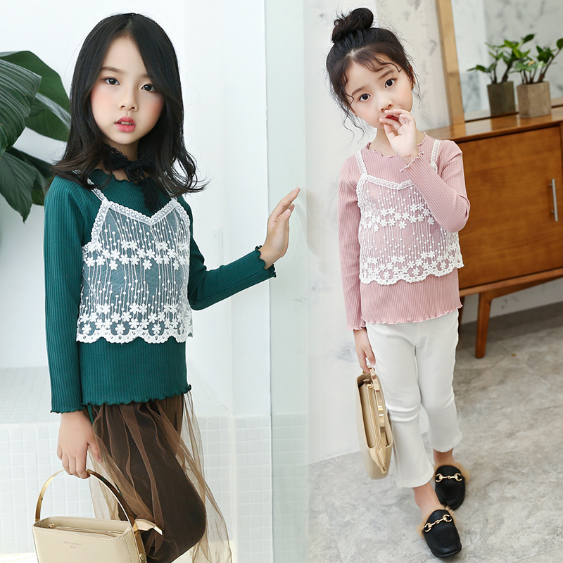woolen winter warm sweater designs for children latest baby girls textured applique embellished kniting sweaters dress for kids