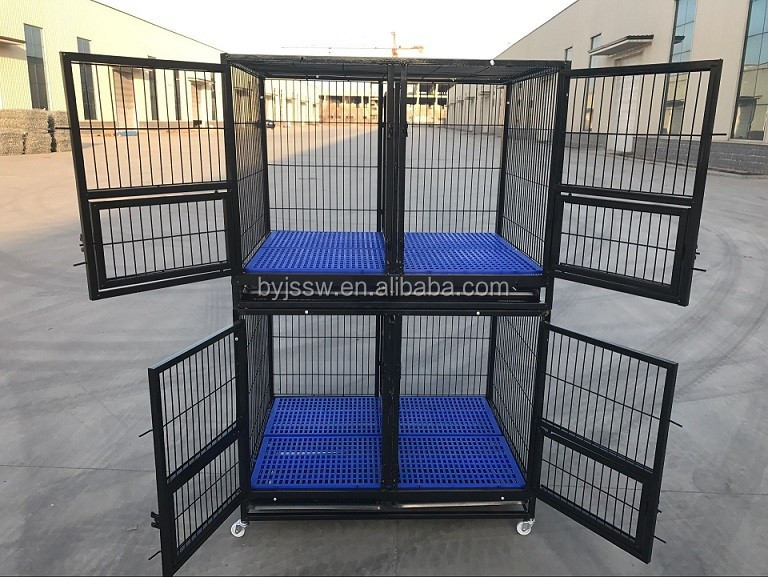 Heavy duty square tube dog cages crates in USA