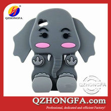 3D Cute baby elephant Animal Silicone Phone Case for iphone 4 4s