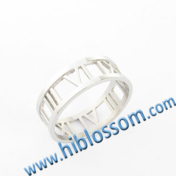 fashion men finger ring Roman numbers model spikes stainless steel ring
