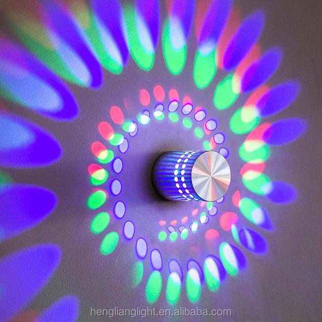 Hot Sale c LED Wall Lamp Fixture Bedside Night Light For PUB KTV BAR 3W 85-265V Led Wall Light Colorful