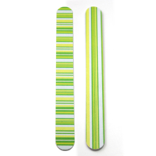 Different end yellow wooden nail file disposable WS019